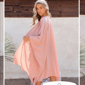 VICI Lyra Duster Top KIMONO - FOUNDATION - XS Rose